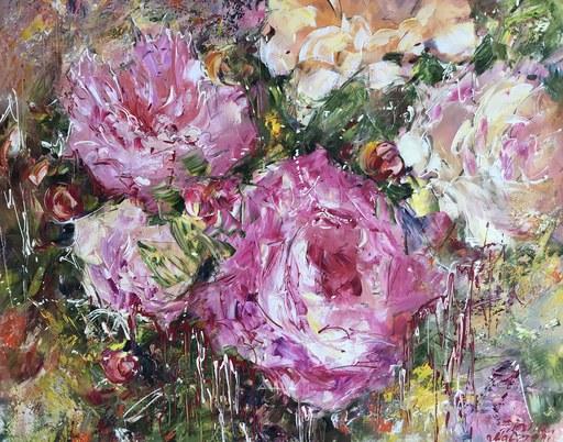 Diana MALIVANI - Pintura - Peonies