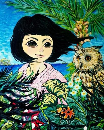 Seung-Hun SHIN - Gemälde - Fantasy Jejuisland- Island Girl Story