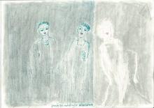Reine BUD-PRINTEMS - Drawing-Watercolor - 3 personnages pour un poème inédit