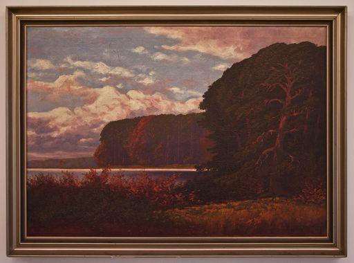 Rudolf HELLGREWE - Painting - Seelandschaft im Abendrot