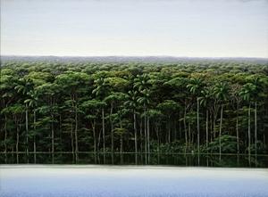 Tomás SANCHEZ - Pintura - Orilla y Meditador