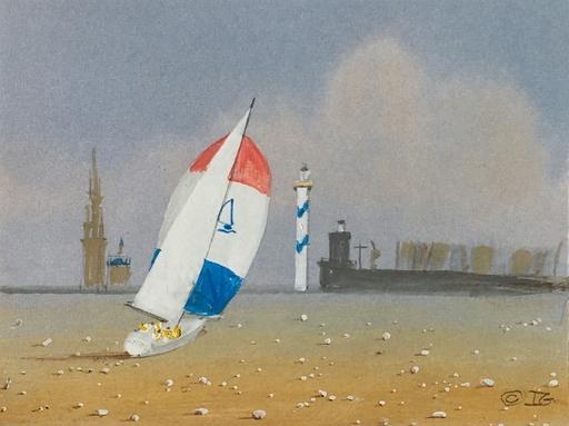 Ivan GOOD - Zeichnung Aquarell - Mer de sable