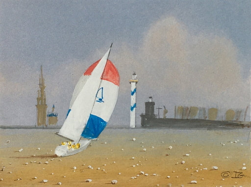 Ivan GOOD - Dibujo Acuarela - Mer de sable