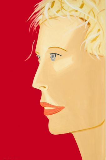 Alex KATZ - Grabado - Coca Cola Girl (red)