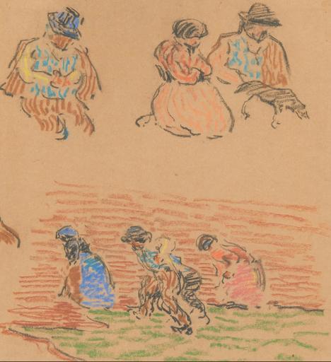 Otto VAN REES - Dibujo Acuarela - Figure study