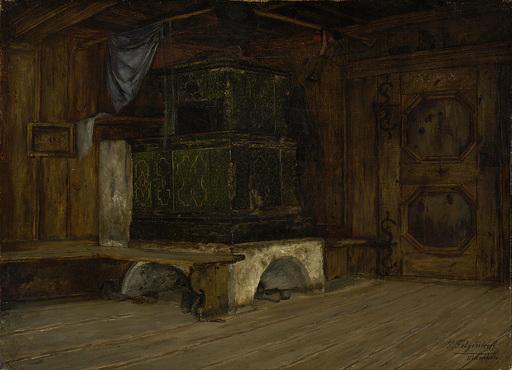 Paul FELGENTREFF - Painting -  Ofenecke in Alpbach (Tirol)