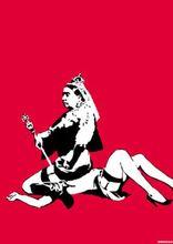 BANKSY - Estampe-Multiple - Queen Vic