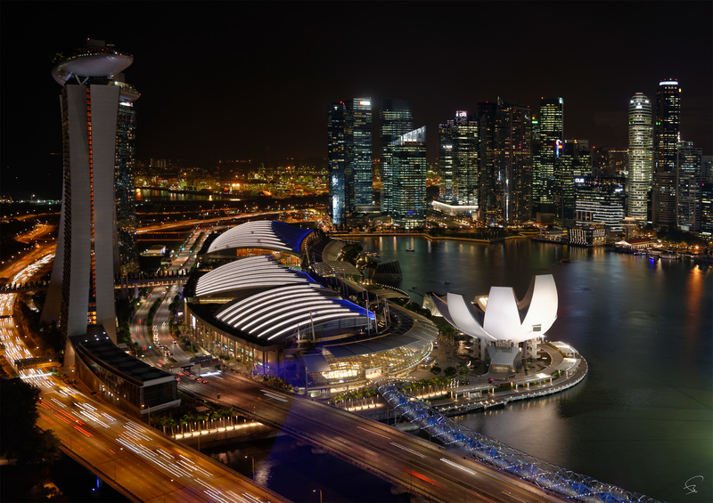 "Bruno PAGET - Fotografia - Singapore ""Marina Bay from the Flyer"" #3"