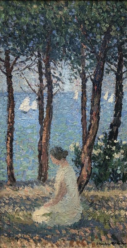 Henri MARTIN - Peinture - Femme dans le parc