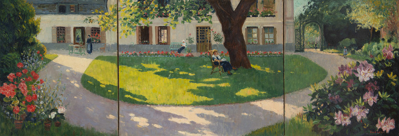Narcisse GUILBERT - 绘画 - Au jardin