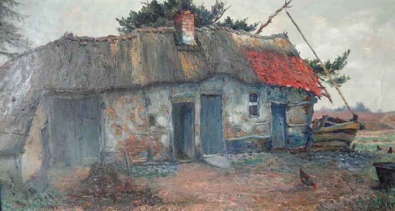 Charles WELLENS - Painting - Boerderij - Ferme