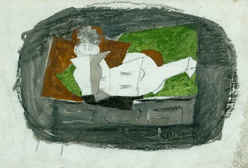 Georges BRAQUE - Dibujo Acuarela - Nature Morte (Sold)