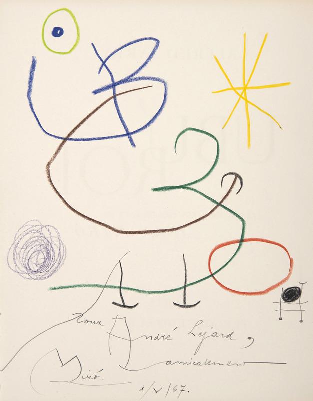 Joan MIRO - Drawing-Watercolor - Ubu roi