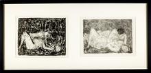 André COTTAVOZ - Print-Multiple - Couples - Diptyque