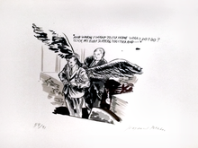 Raymond PETTIBON - Estampe-Multiple - And When I Want to Fly Home What Do I Do?