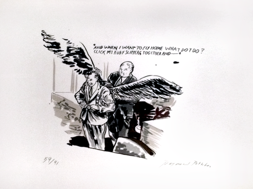 Raymond PETTIBON - Print-Multiple - And When I Want to Fly Home What Do I Do?