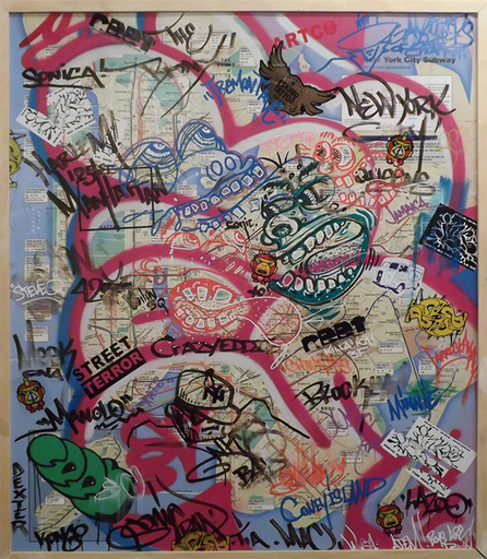 SONIC - Painting - Sonic STREET TERROR NYC Subway Map