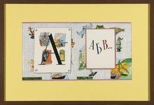 "Ilya KABAKOV - Dessin-Aquarelle - ""ABC ..."". Sketch illustration of the book ""ABC ..."""