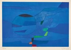 Gustave SINGIER - Grabado - Jardin marin