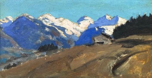 Alfons WALDE - Painting - Jochberger Bergemit Tiroler Bergbauernhof