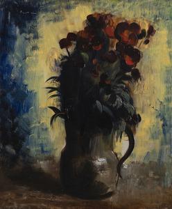 Jean FAUTRIER - Gemälde - Nature morte au vase de giroflées