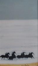 安德烈·布拉吉利 - 绘画 - Petite cavalcade