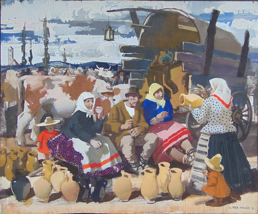 Vilmos ABA-NOVAK - 绘画 - At The MArket