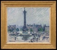 Gustave LOISEAU - Painting - Place de la Bastille