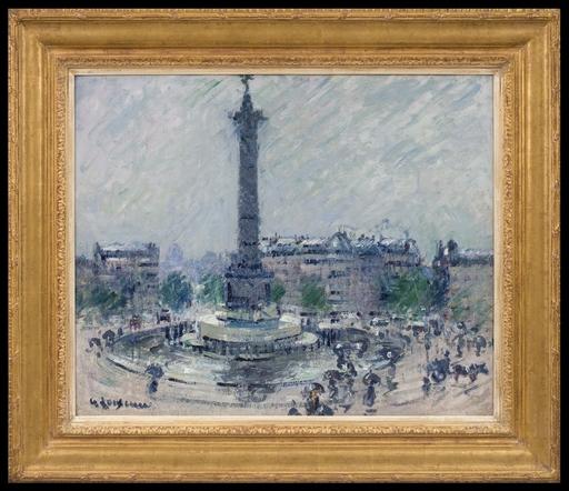 Gustave LOISEAU - Peinture - Place de la Bastille