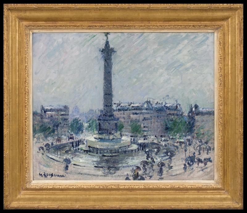 Gustave LOISEAU - Pittura - Place de la Bastille