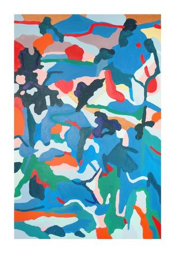 Sébastien COUEFFIC - Peinture - la source des fleurs du pêcher d'après (Qiu Ying, 16e) H