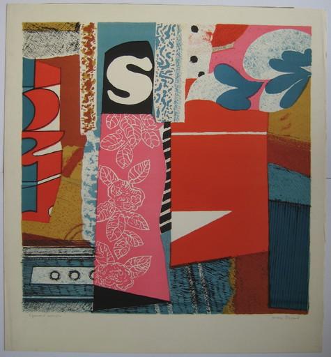 Max PAPART - Estampe-Multiple - LA VIE EN ROSE, 1970, LITHOGRAPHIE SIGNÉE AU CRAYON