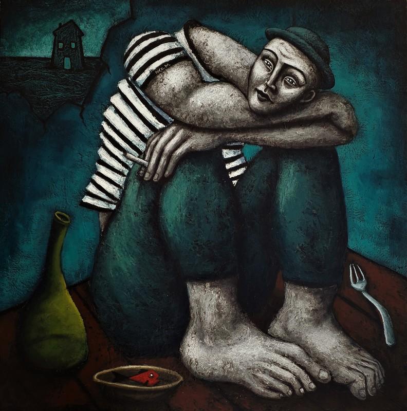 Nicolas MONJO - Painting - Intérieur nuit