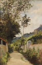 George Ames ALDRICH - Pintura - A Brittany village street
