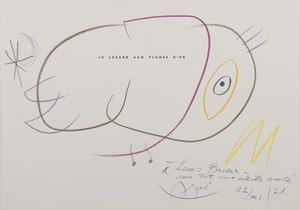 Joan MIRO - Drawing-Watercolor - Sans titre