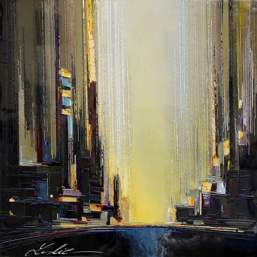 Leslie BERTHET LAVAL - Pintura - URBAN CITY 6