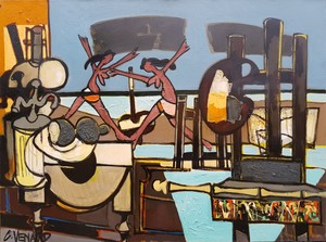 Claude VENARD - Pittura - vue sur mer