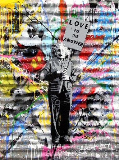 MR BRAINWASH - Painting - Einstein