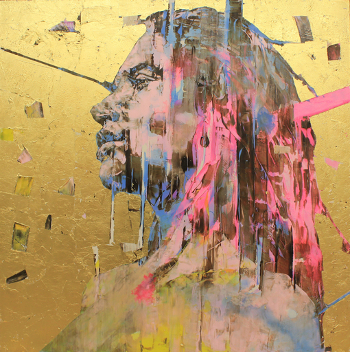 Marco GRASSI - Painting - The Di-Gold Experience 150x150 cm