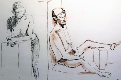 R.CAVALIÉ - Drawing-Watercolor - N.R. 141