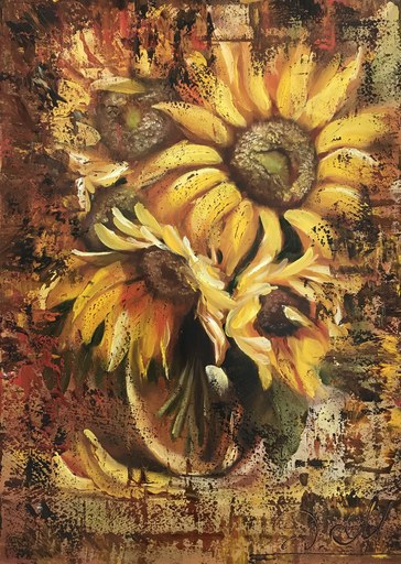 Diana MALIVANI - Gemälde - Sunflowers