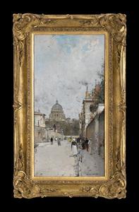 Luigi LOIR (1845-1916) - Paris, le Dome de l'Eglise du Val de Grace