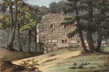 "Alexander Johann DALLINGER VON DALLING - Dessin-Aquarelle - ""Ruin in Forest"", early 19th century"
