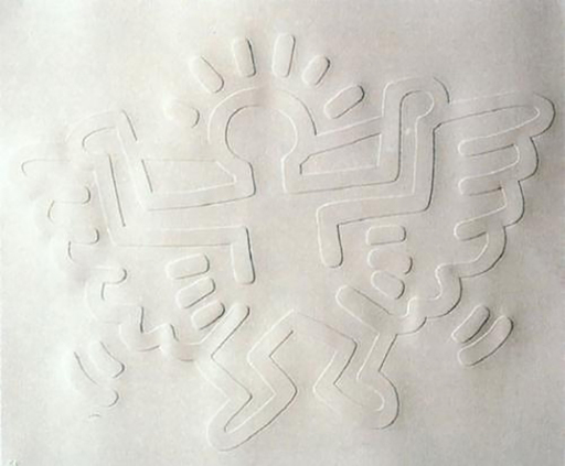 Keith HARING - Estampe-Multiple - White Icons- Angel