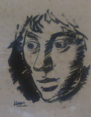 Isaac DÍAZ PARDO - Dibujo Acuarela - cabeza