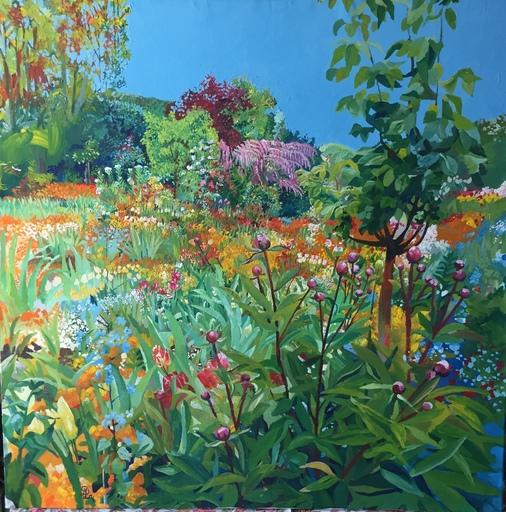 Delphine LACROIX - Peinture - Un Après-Midi dans le Jardin de Monnet