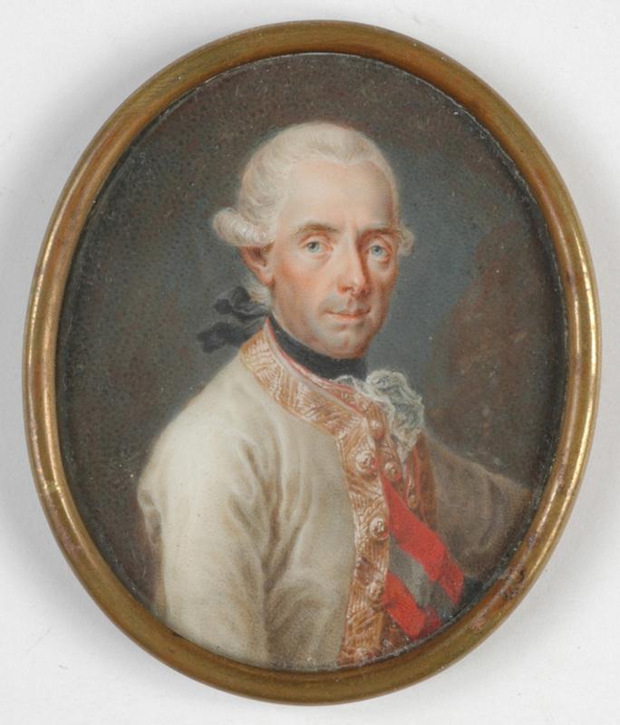 "Johann Baptist I VON LAMPI - Dibujo Acuarela - ""Field Marshal von Laudon"" important miniature on ivory"