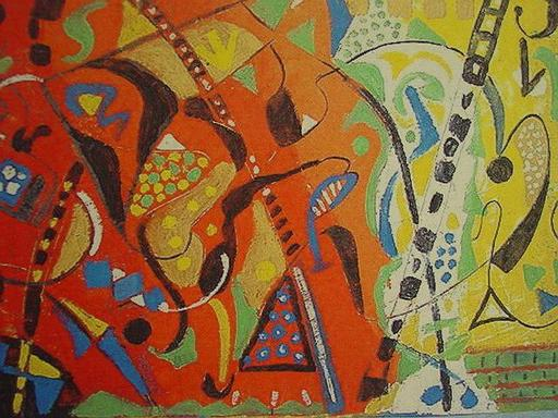 Jo BRENNEIS - 绘画 - Farben rot