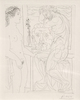 Pablo PICASSO - Stampa Multiplo - Nude Model and Sculptures (Bloch 185)