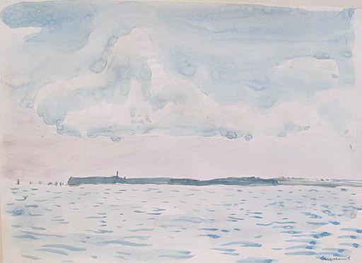 Paul MECHLEN - Drawing-Watercolor - Quessant (Bretagne,France)